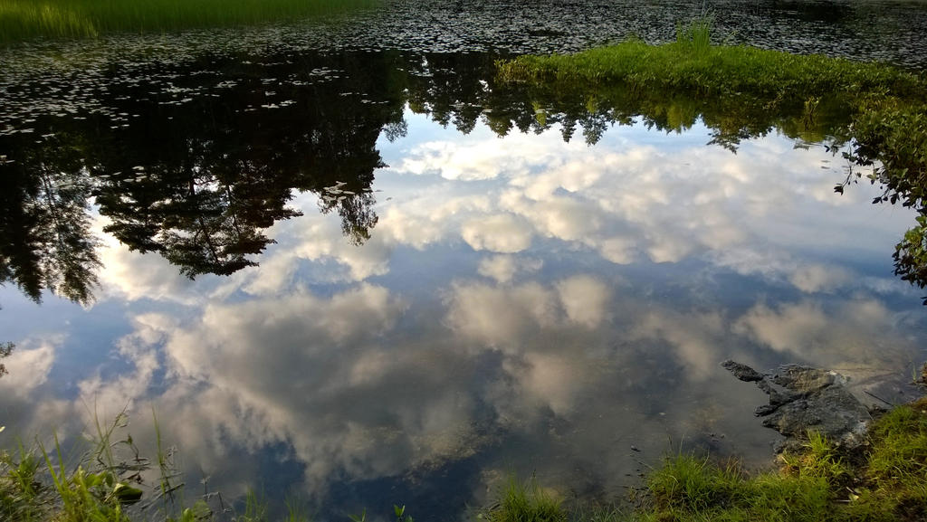 Clouds in the water