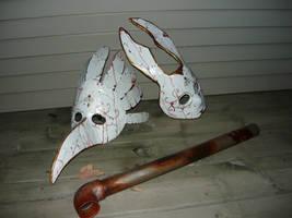 Bioshock Splicer Masks by Tycho