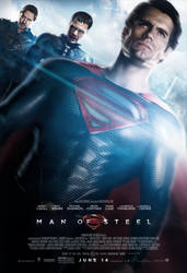 Man of Steel - Fanmade Final Poster by Kc-Eazyworld
