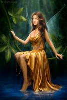 Golden-eyed-fairy by mashamaklaut
