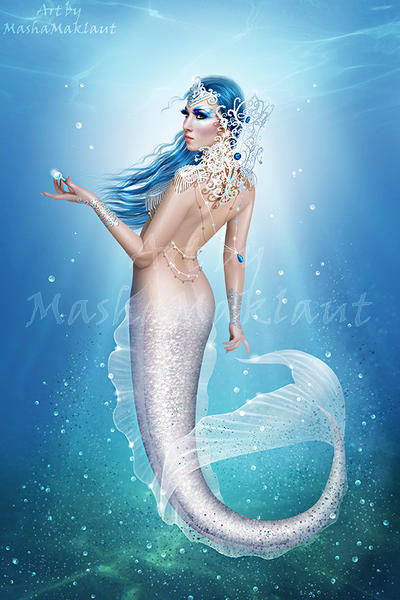 White mermaid by mashamaklaut
