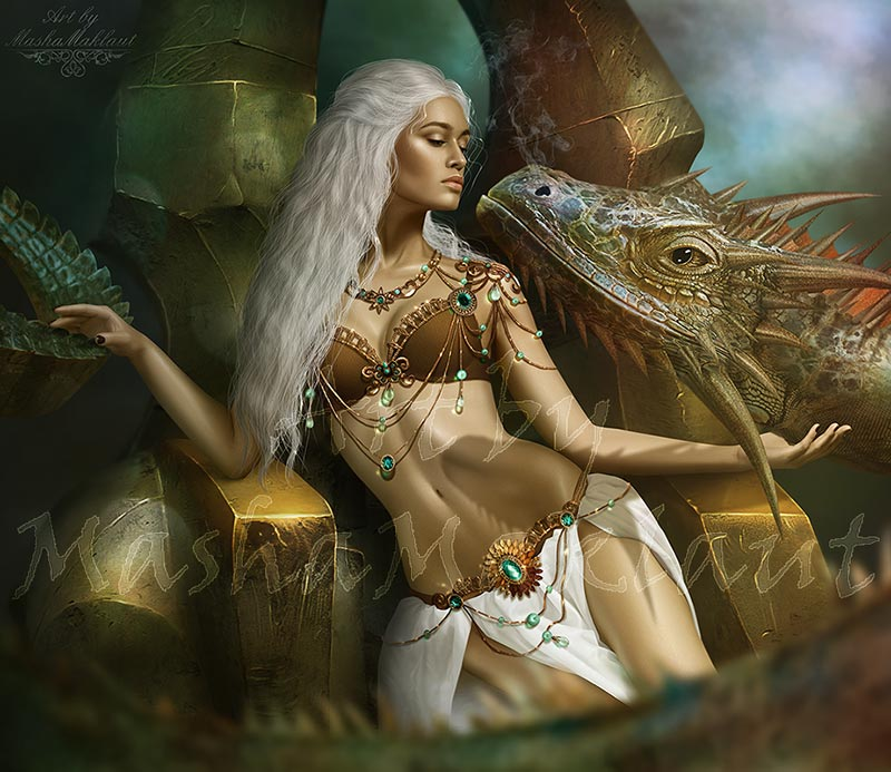 Daenerys Targaryen. Reygal by mashamaklaut