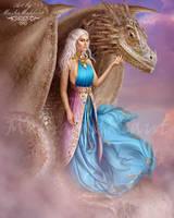 Daenerys Targaryen.Viserion by mashamaklaut