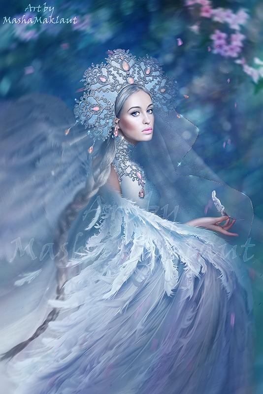 Swan-princess by mashamaklaut