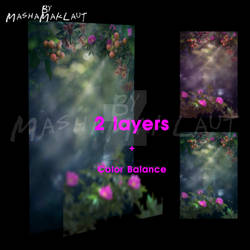 Photoshop digital background, Mystic Garden