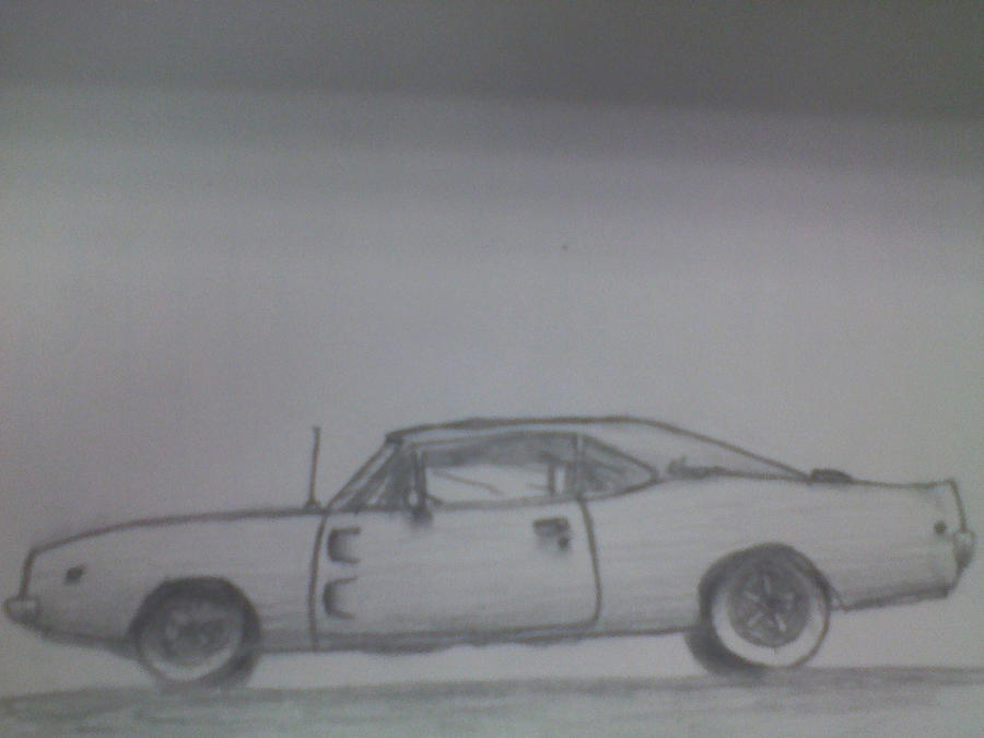 how to draw a 1970 dodge charger