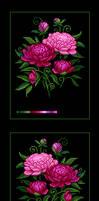 Pixelart: Peonies by Shumshum