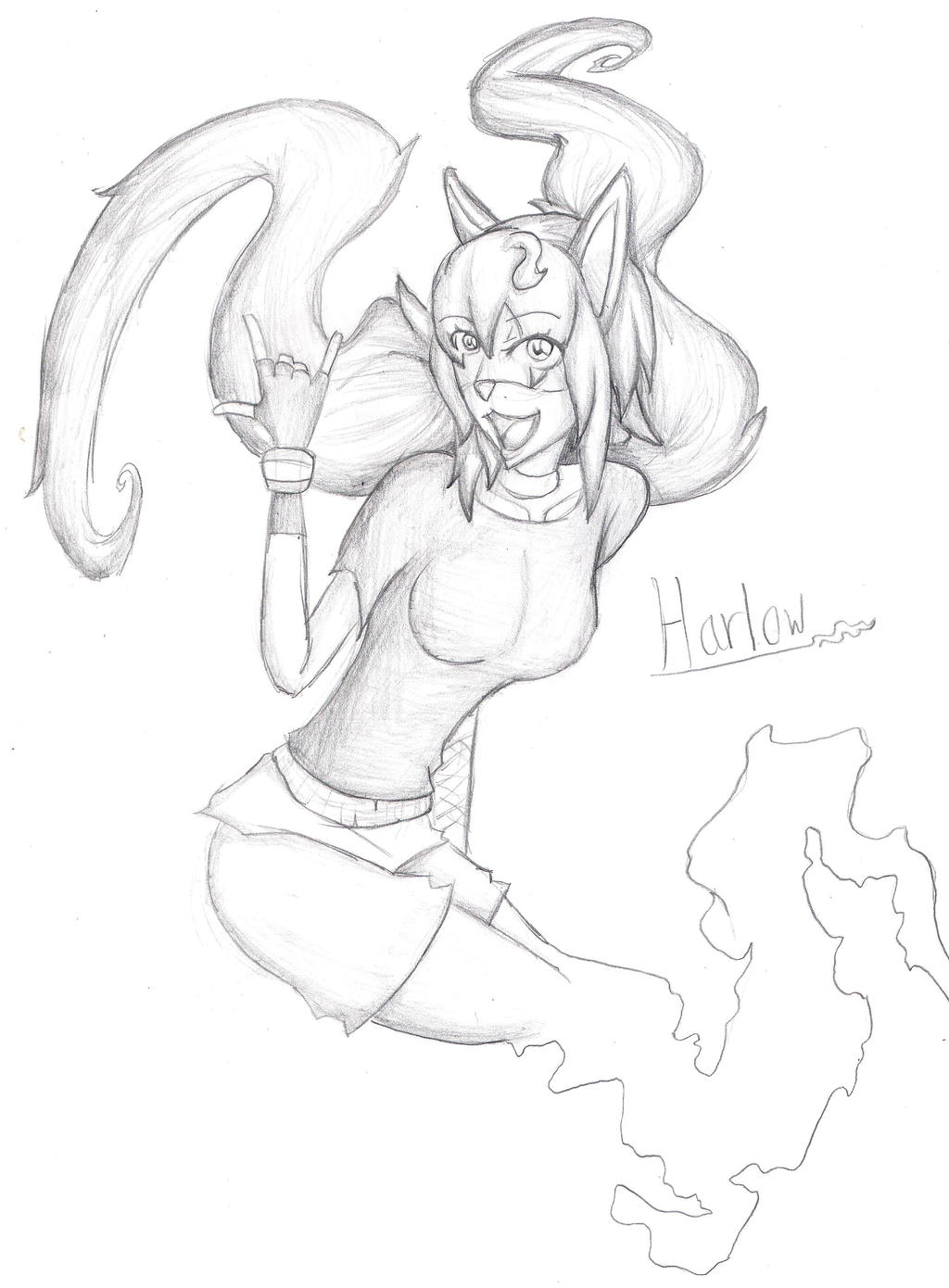 Contest Entry: Harlow The Ghost Cat by DotintheParadox