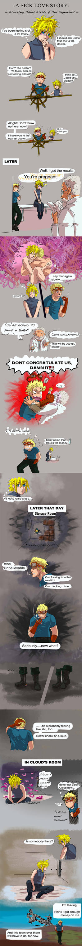 FF7 A Sick Love Story with Cid n Cloud 1 by Dragona15