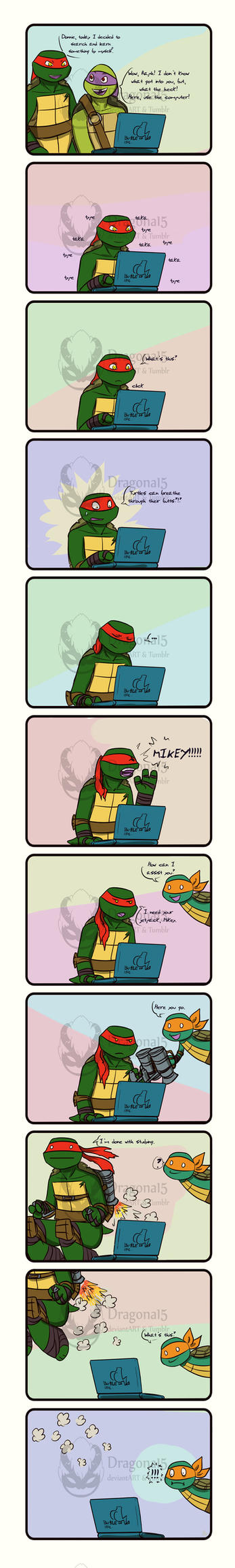 Tmnt Learning with Raph about turtles by Dragona15