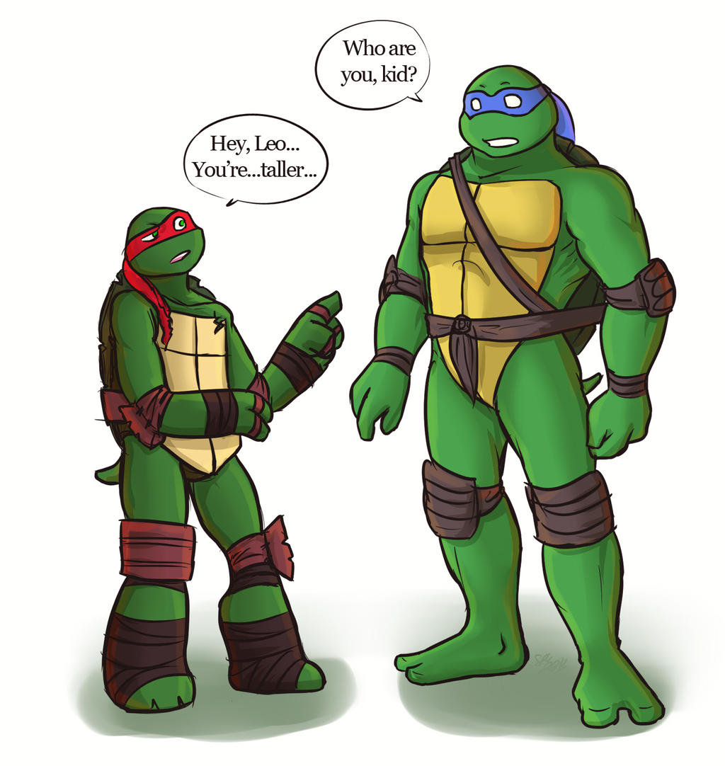 tmnt 2k12Raph meets 2k3Leo by Dragona15