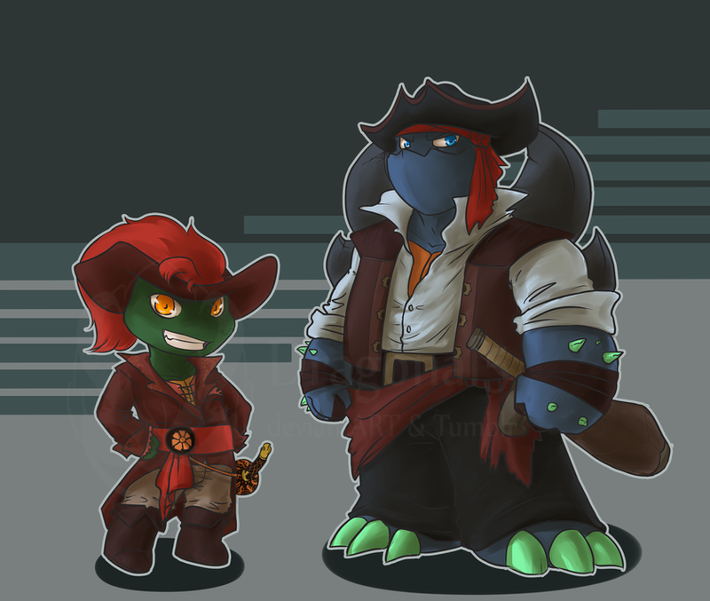 Tmnt Pirates Slash Raph Chibi By Dragona15 On DeviantArt