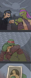 Raph Misses Spike by Dragona15