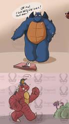 Redslash Molepup Walk Tiny by Dragona15
