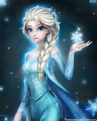 14 04 15 - Elsa Queen - FROZEN by ThaharaTeja