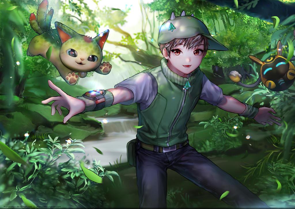 17 01 07 - Boboiboy Daun Dan Cattus Di Alam Flora by