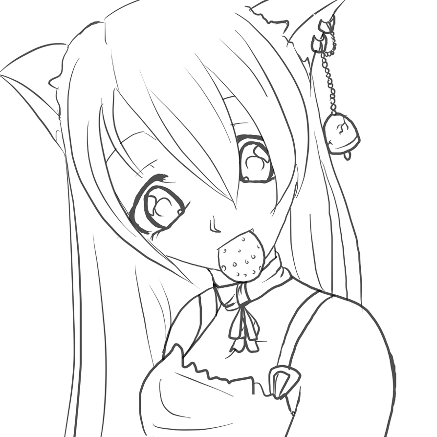 Coloring Lineart : Suzu lineart by gothicraine on deviantart