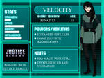 YJ OC: Velocity (REDESIGN)