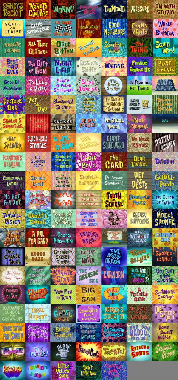ragameechu s spongebob squarepants atrocities list by ragameechu on