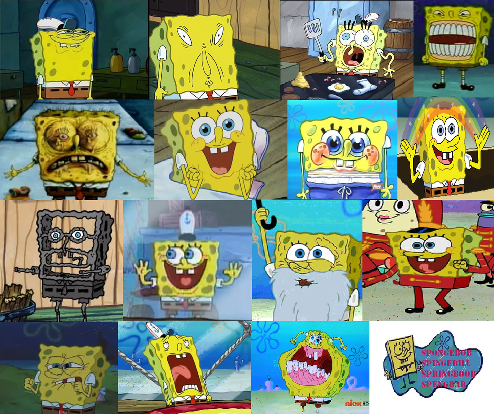 Spongebob Funny Faces And Weird Faces By Ragameechu On