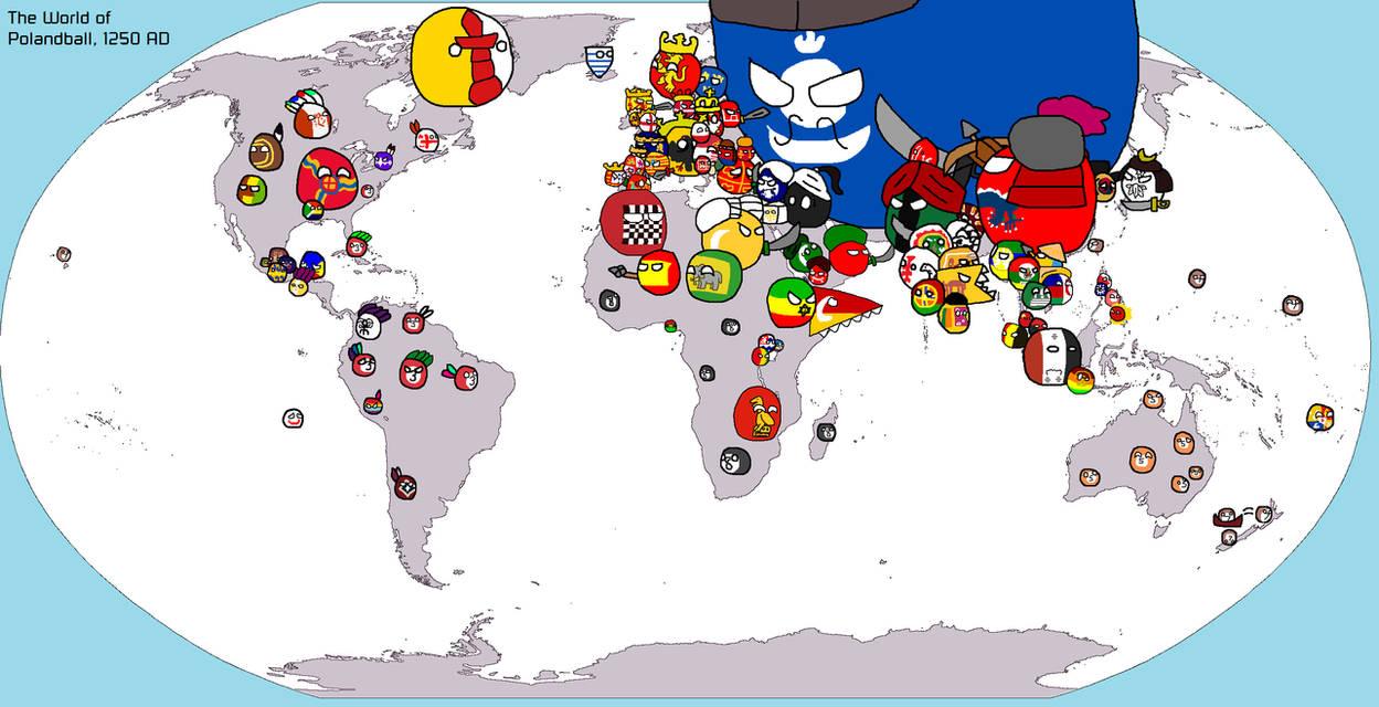 Polandball Map Of The World 2017.Polandball Map Of Earth 1250 Ad By Ragameechu On Deviantart