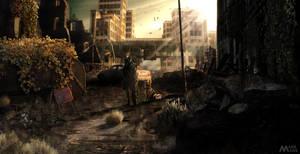 Post-apocalyptic Kharkiv city