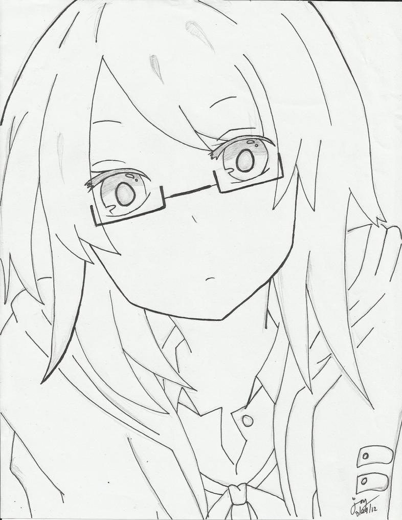 Girl With Glasses By Cjoyzv On DeviantArt