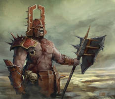 Khorne fan by Diamondaectann