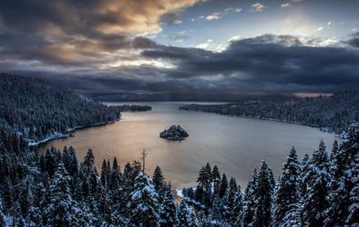 Emerald Bay Sunrise by LILYFlowerr