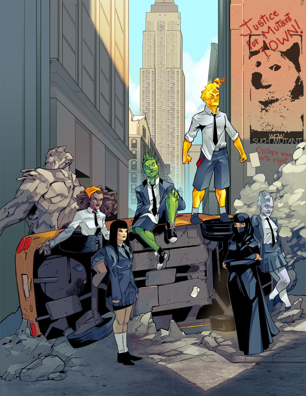 X-men Out downtown by Graconius