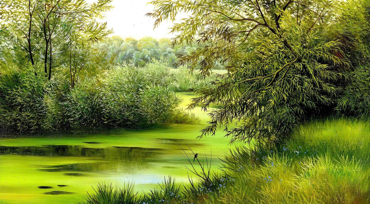 Nature Scene Painting Wallpaper 2560x1440 By Ihackyou749