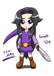 Amy 4 swords - Purple by SpeedyHimura
