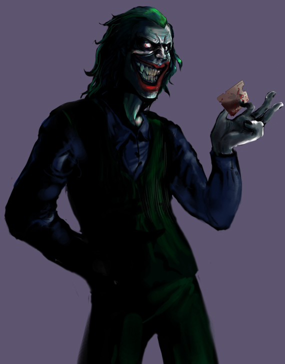 The Dark Knight - Joker by peachiekeenie