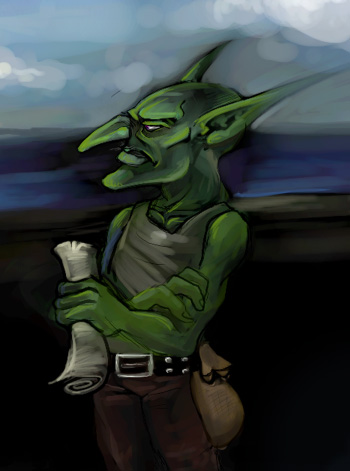 Goblin sketch by peachiekeenie