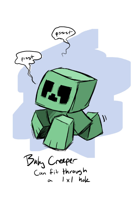 Baby Creeper by peachiekeenie on DeviantArt
