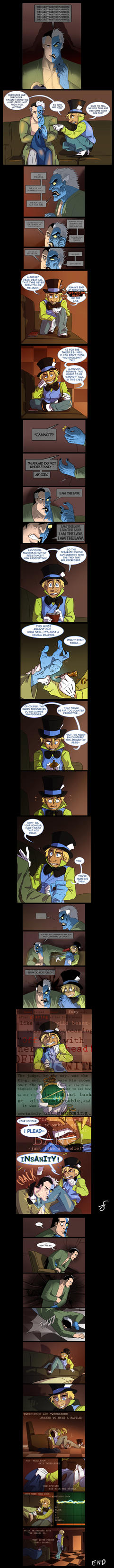 Mad Hatter and Two Face RP comic by peachiekeenie