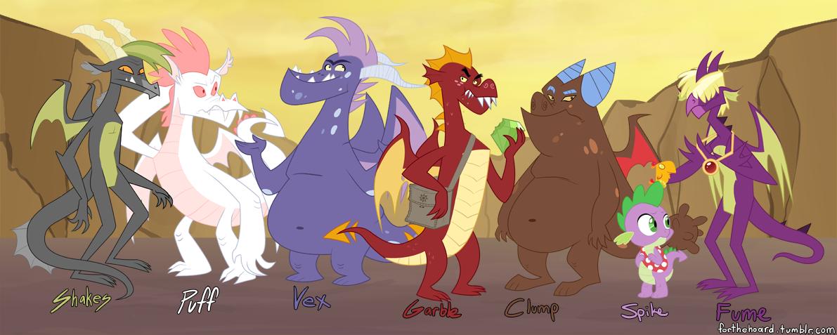 Garble - Dragon line up by peachiekeenie