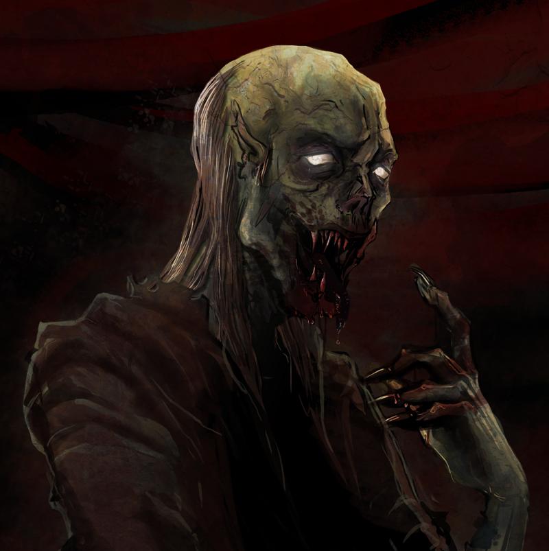 Zombie painting by peachiekeenie