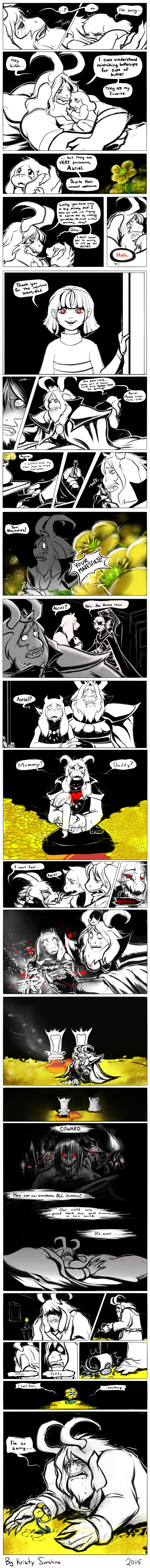 That's rough, buddy (UNDERTALE SPOILERS) by peachiekeenie