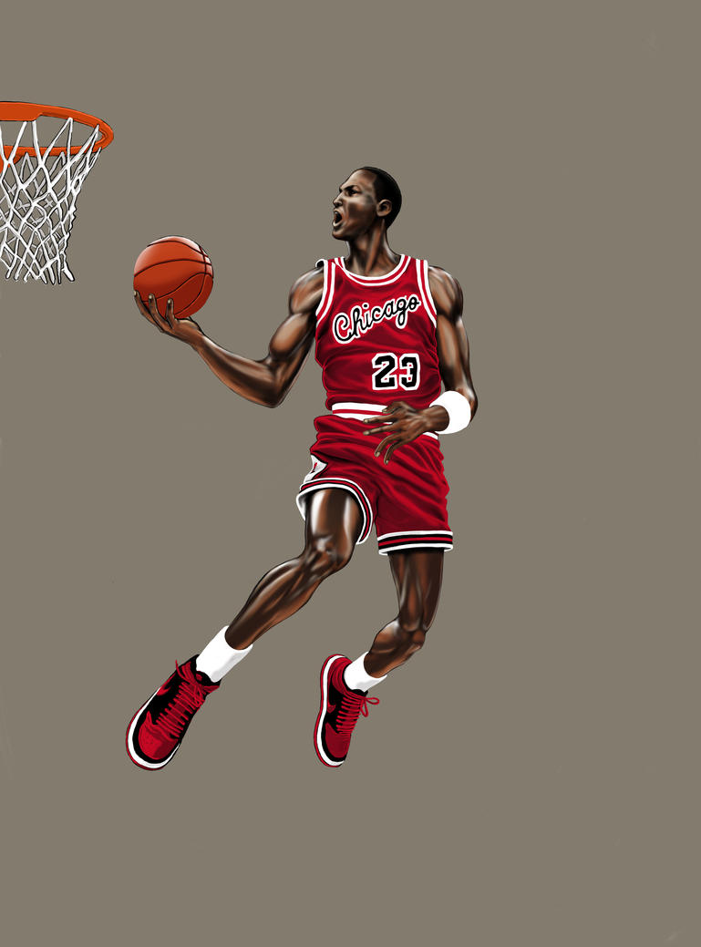 Michael Jordan Dunk By P Tecker