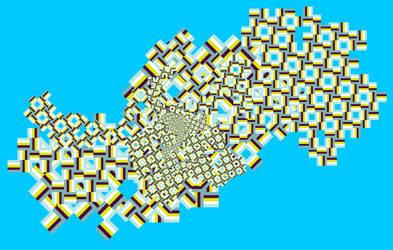 Fractal 003: Blue pattern