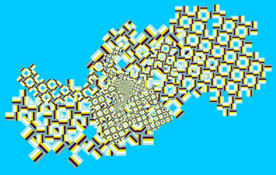 Fractal 003: Blue pattern by hxseven
