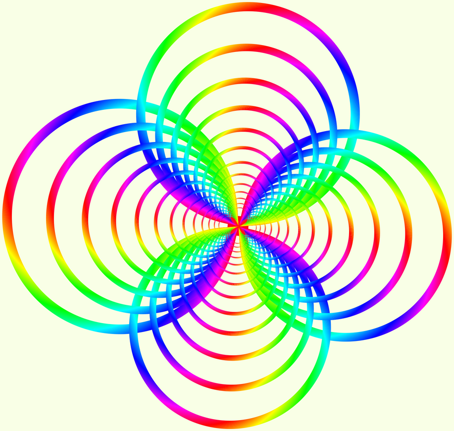 Fractal Circle Fractal 004 color circles by