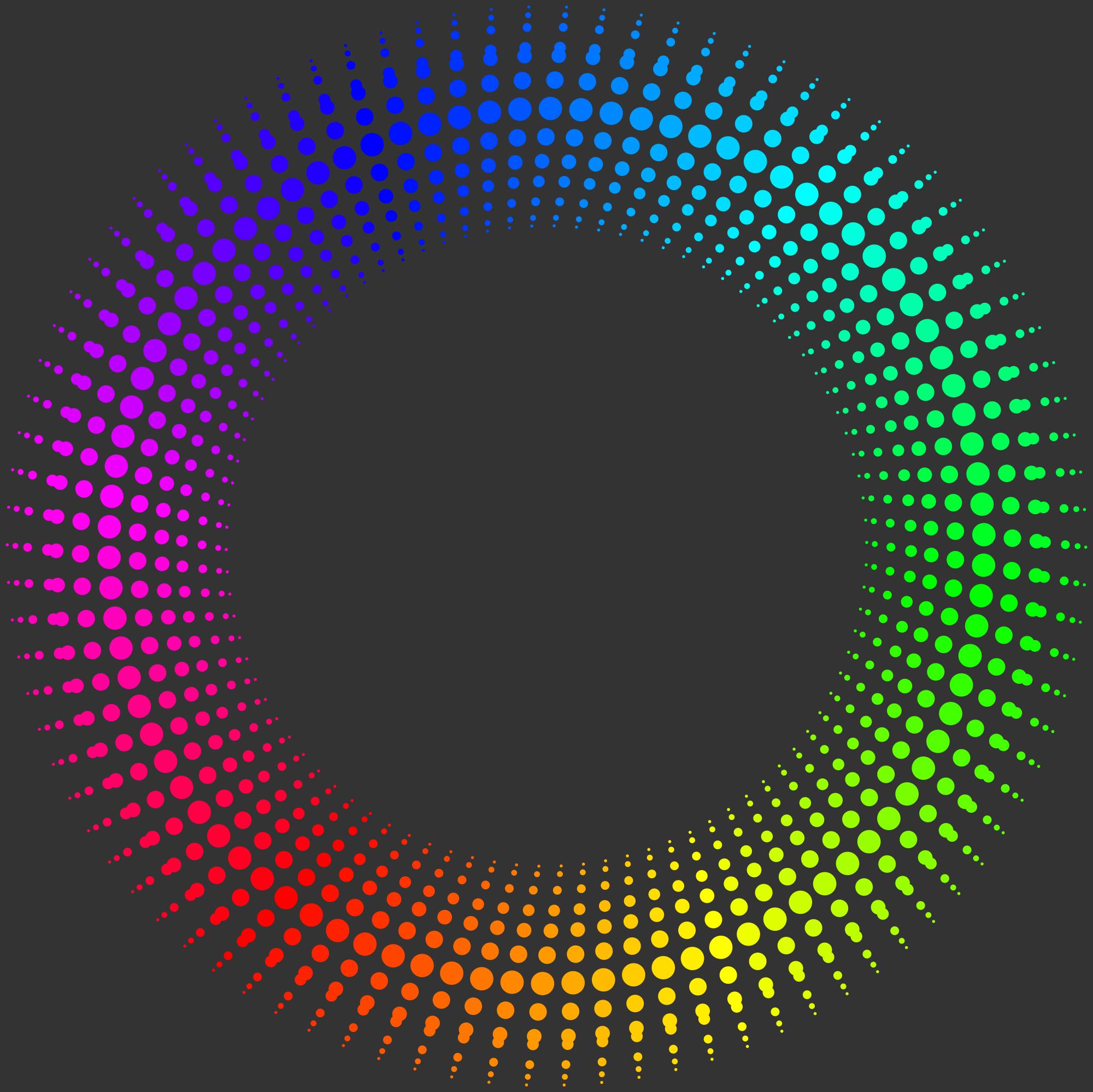 Fractal Circle Fractal 006: rainbow circleby