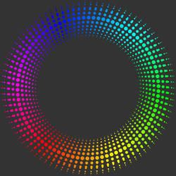 Fractal 006: Rainbow circle by hxseven