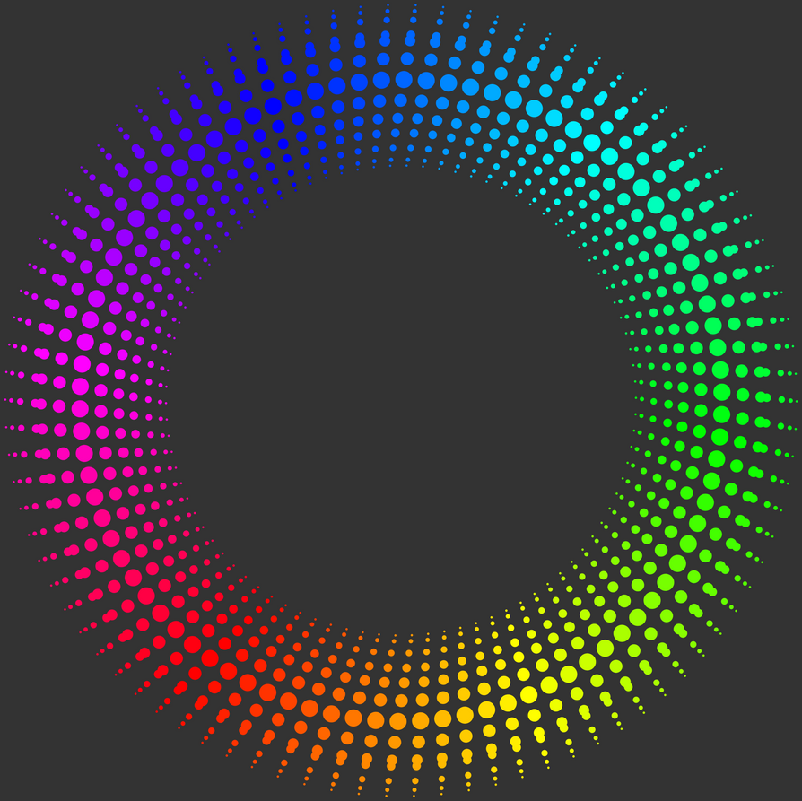 Rainbow Circle Png Fractal 006 Rainbow Circle by