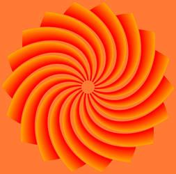 Fractal 007: Orange flower by hxseven
