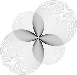 Fractal 009: BW flower
