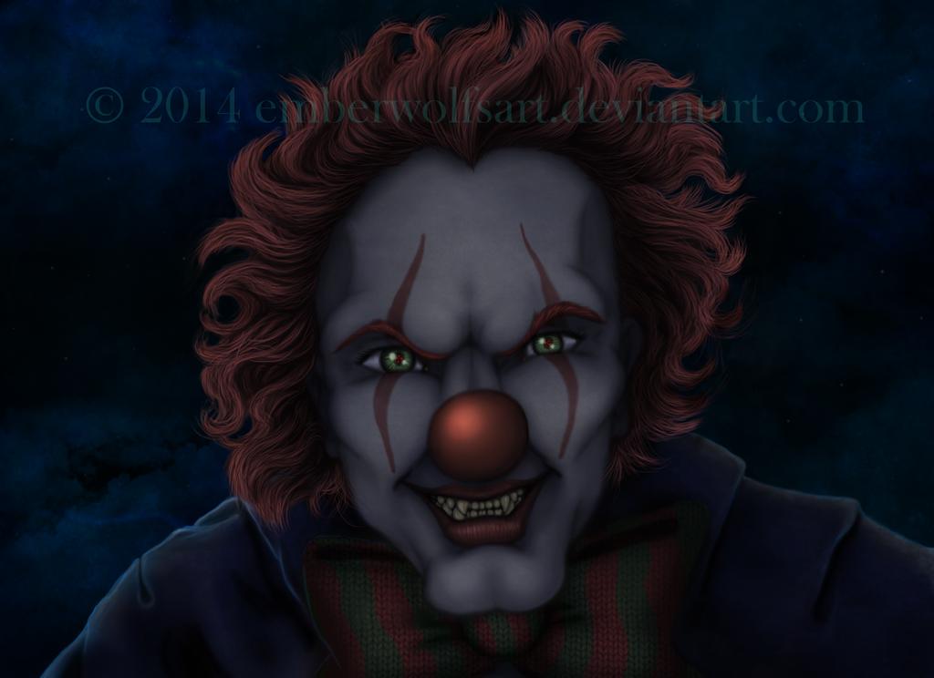 Creepy Clown by EmberWolfsArt