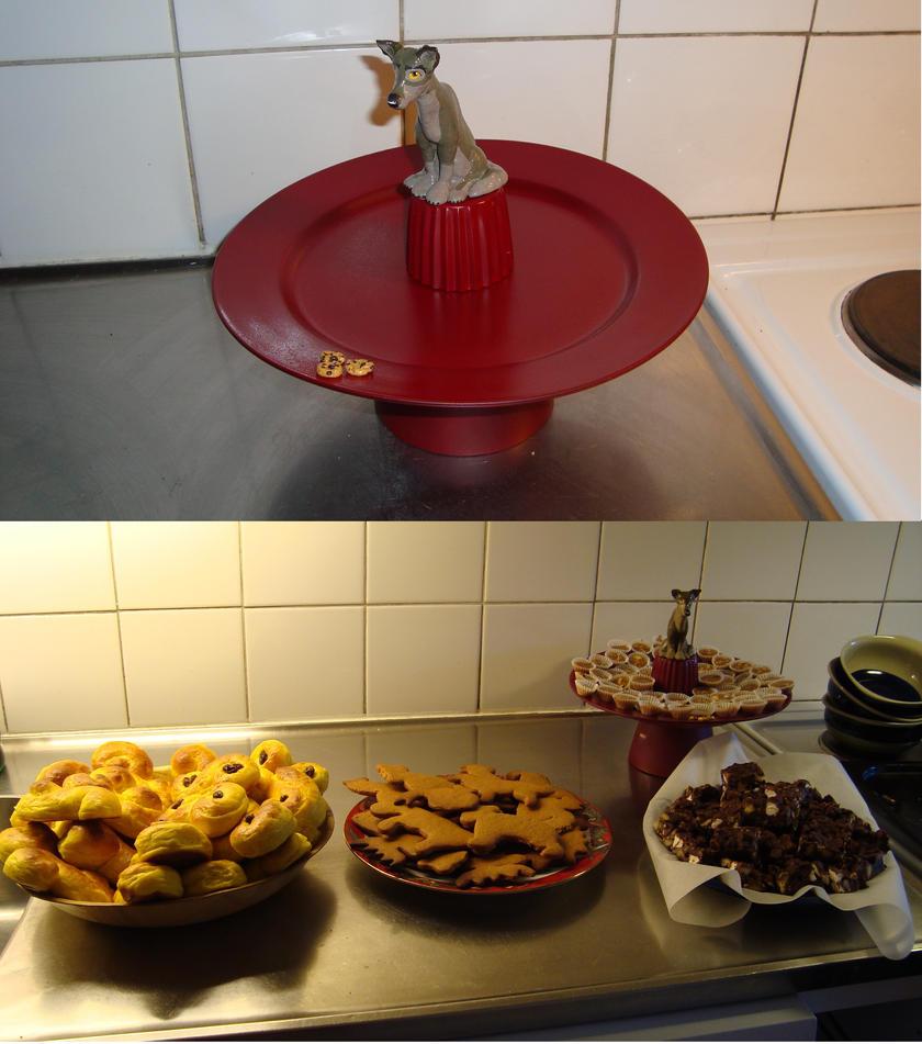 Homemade Cookie Plate by EmberWolfsArt